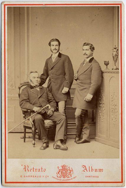 Retrato de José Besa y sus hijos