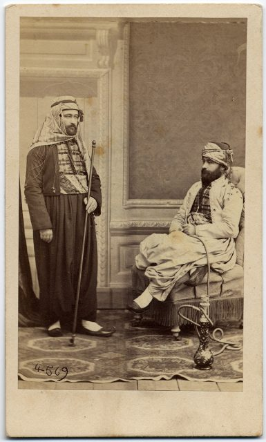 Retrato de dos hombres turcos