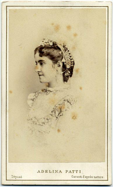 Retrato de Adelina Patti