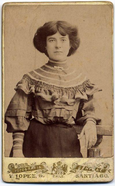 Retrato de Ludomilia Espinoza Toro.