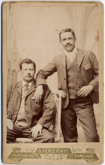 Retrato de dos hombres.