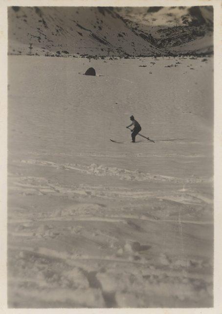 Esquiando, Lo Valdés.
