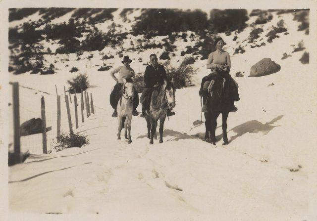 Cabalgata en la nieve, Lo Valdés.