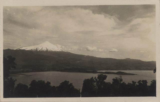 Vista del Volcán Villarrica desde Pucón