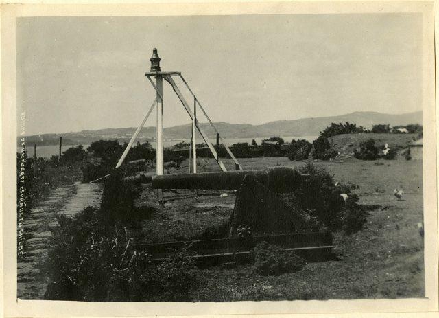 Ruinas de un fuerte español en Chiloé.