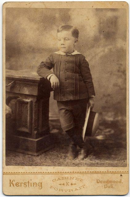 Retrato de Frank Olds a los cuatro años.