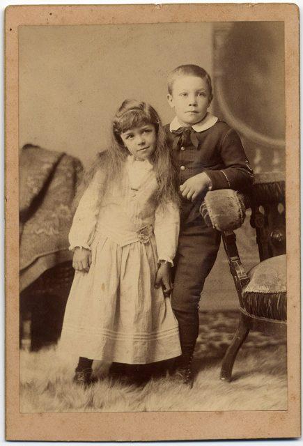 Retrato de Frank y Ruby Olds.