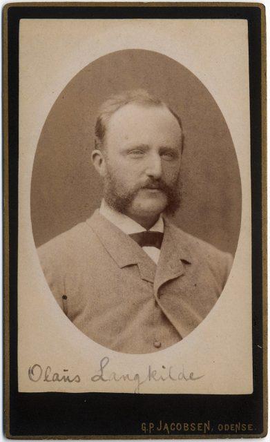 Retrato de Olans Langkilde