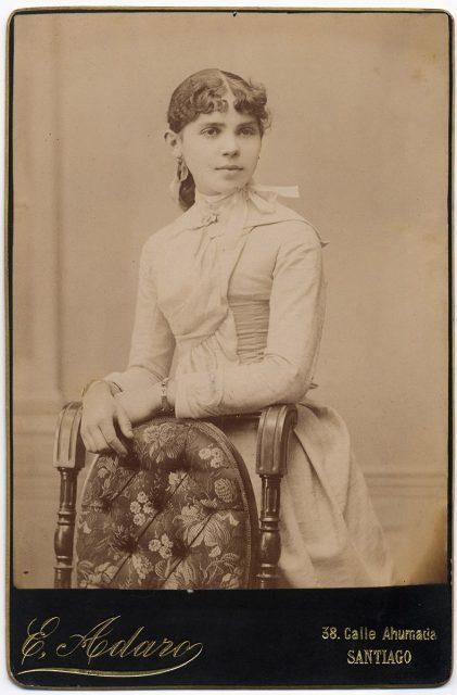 Retrato de una mujer.