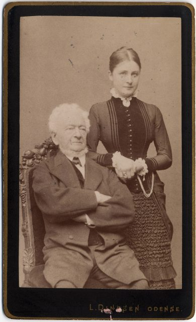 Retrato de Moritz Gotthold Krag y Sophie Krag