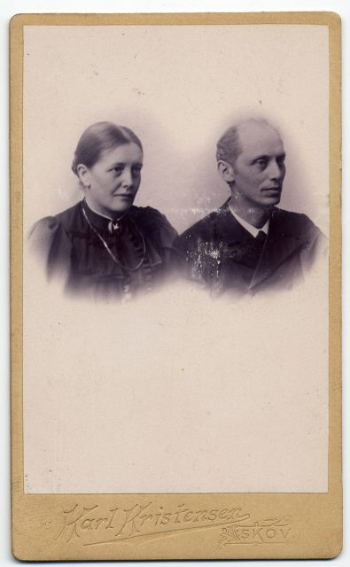Retrato de Axel Helweg y Falitha