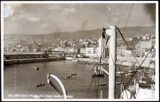Chile – Valparaíso, Vista desde el Puerto.