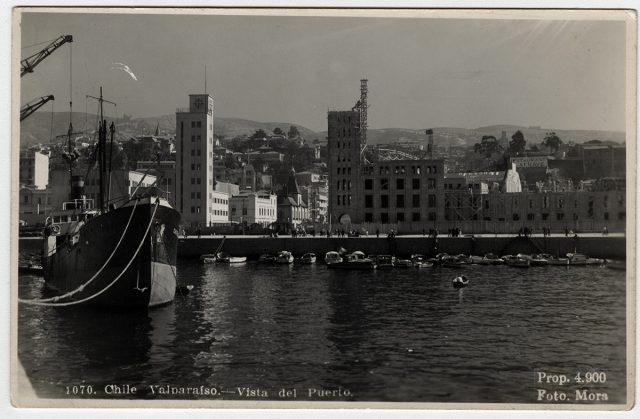 Chile, Valparaíso – Vista del Puerto.