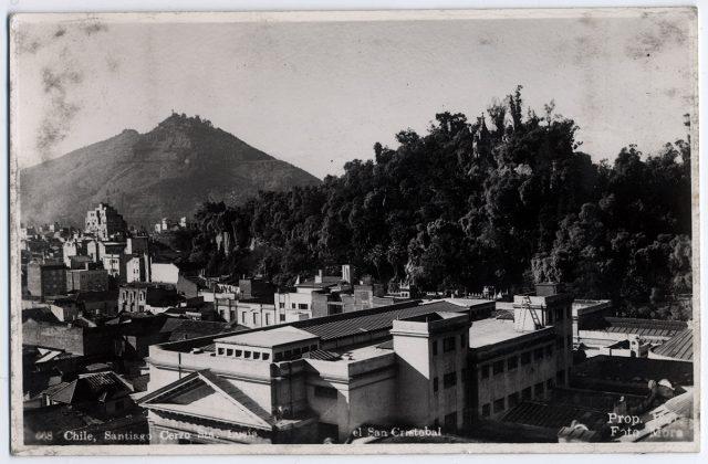 Chile, Santiago. Cerro Santa Lucía. El San Cristóbal.