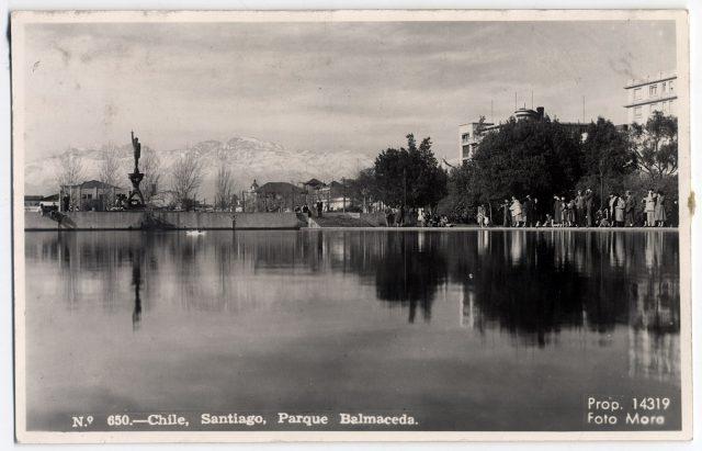 Chile, Santiago, Parque Balmaceda.