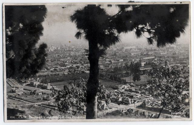 Chile, Santiago visto desde el San Cristóbal