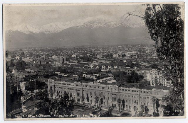 Chile – Santiago, Vista desde el Sta. Lucía.