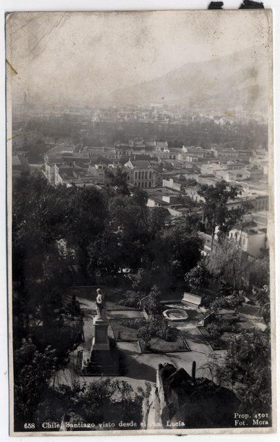 Chile, Santiago visto desde el Sta. Lucía