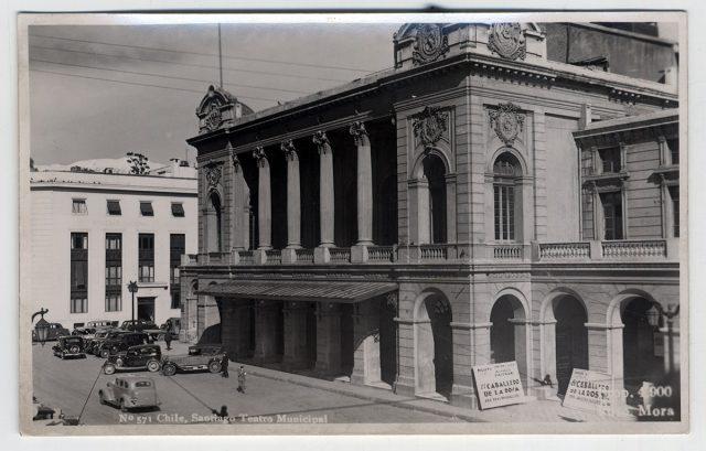 Chile, Santiago Teatro Municipal.