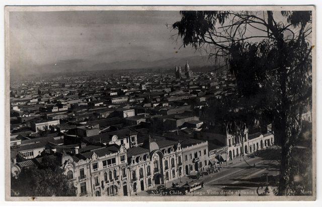 Chile, Santiago desde el cerro Santa Lucía.