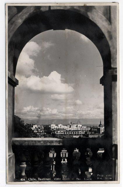 Chile, Santiago visto desde el Sta. Lucía.