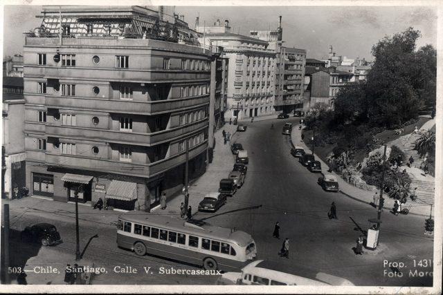 Chile, Santiago, Calle V. Subercaseaux