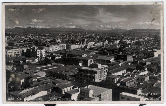 Chile, Santiago . Vista Panorámica.