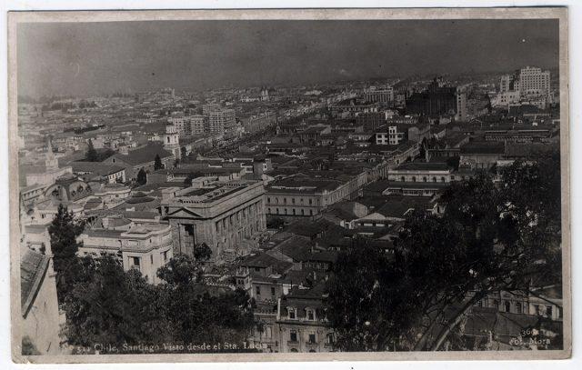 Chile, Santiago desde el Sta. Lucía.