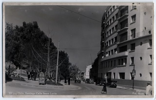Chile, Santiago Calle Santa Lucía.