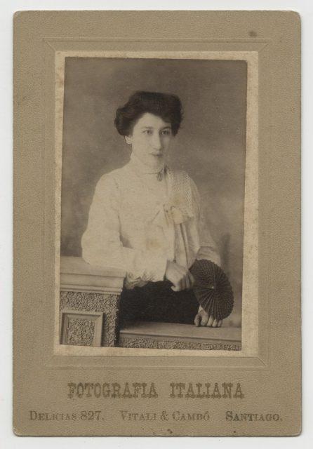Retrato de Carmen Rosa Cubillos.
