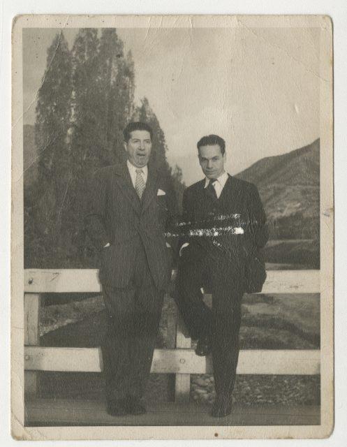 Retrato de Nicanor Parra con Braulio Arenas