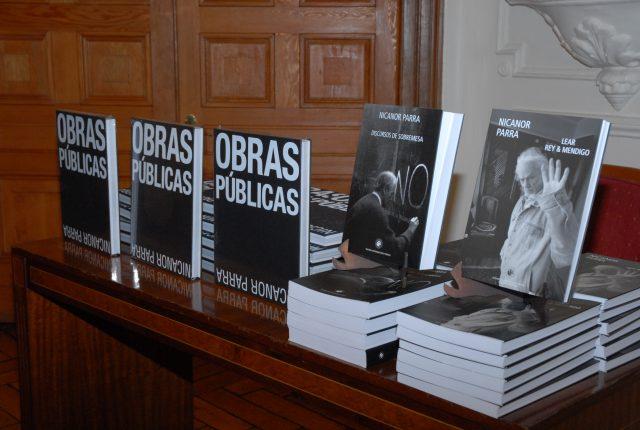 Lanzamiento libro 'Obras Públicas' de Nicanor Parra