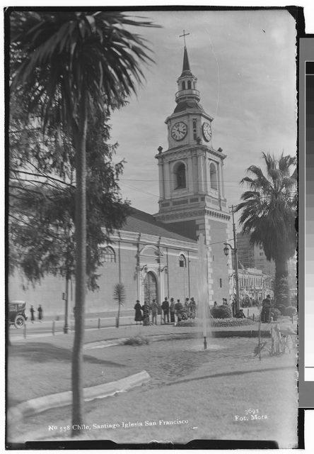 Chile, Santiago Iglesia San Francisco.