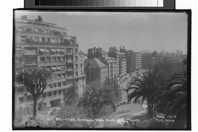 Chile, Santiago, Visto desde el Sta. Lucía.